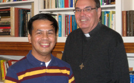 Fr. Thomas Smithson, SSS at Fr. Choy Ramos, SSS in our Scholasticate (seminary) community in Chicago, IL